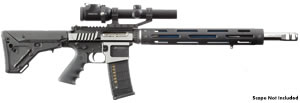 JP Enterprises CTR-02 Custom Tactical Rifle, .223/.204 Ruger/6.5/9mm Grendel, Semi-Auto, Optional BBL, Black Telfon Finish, 30 Rd