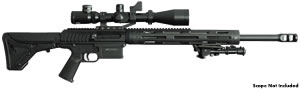 JP Enterprises LRP-07 Custom Tactical Rifle, 308 Win/.260 Rem./338 Fed., Semi-Auto, Optional BBL, Black Telfon Finish, 30 Rd