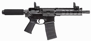 PWS MK1 Mod1 Gas Piston Pistol M107PA1B, .223 Wylde, 7.75 in BBL, 7 in KeyMod Rail, Blk Finish, Triad556 Brake