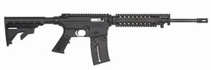 Mossberg 715T Tactical ORC Rifle 37229, 22 LR, 16.25 in, Adj Stock, A2 Style Muzzlebrake, Top Rail & Quad Rail Forend, 25 + 1 Rd