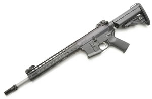 Noveske RifleWorks 300 Blackout Rifle R145300BLKN, 300 ACC Blackout, 14.5 in Stainless BBL, w/NSR 11 in Rail, Vltor Collap Stock, Flip Up Sights, 30 Rd