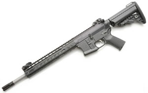 Noveske RifleWorks Afghan Rifle R145P556N, 5.56 NATO, 14.5 in Stainless BBL, w/NSR 11 in Rail, Vltor Collap Stock, Flip Up Sights, 30 Rd
