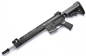 Noveske RifleWorks Afghan Rifle R145P68SB, 6.8 SPC, 14.5 in Stainless BBL, w/Switchblock, 9.5 in LoPro Rail, Vltor Collap Stock, Flip Up Sights, 30 Rd