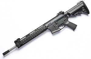 Noveske RifleWorks Afghan Rifle R145P68, 6.8 SPC, 14.5 in Stainless BBL, LoPro 11 in Rail, Vltor Collap Stock, Flip Up Sights, 30 Rd