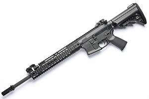 Noveske RifleWorks Light Carbine Rifle RLRLP556SB, 5.56 NATO, 16 in ChromeLined BBL, w/Switchblock, 11.5 in LoPro Rail, Vltor Collap Stock, Flip Up Sights, 30 Rd