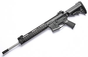 Noveske RifleWorks Recon Rifle R16556, 5.56 NATO, 16 in Stainless BBL, LoPro 11 in Rail, Vltor Collap Stock, Flip Up Sights, 30 Rd
