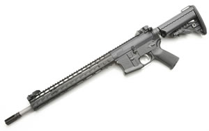Noveske RifleWorks Recon Rifle R1668N, 6.8 SPC, 16 in Stainless BBL, w/NSR 13.5 in Rail, Vltor Collap Stock, Flip Up Sights, 30 Rd