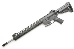 Noveske RifleWorks SPR Rifle R18556, 5.56 NATO, 18 in Stainless BBL, LoPro 14 in Rail, Vltor Collap Stock, Flip Up Sights, 30 Rd