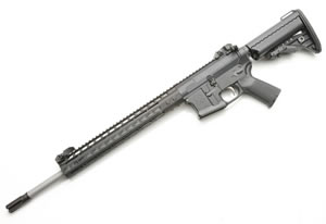Noveske RifleWorks SPR Rifle R18556N, 5.56 NATO, 18 in Stainless BBL, w/NSR 13.5 in Rail, Vltor Collap Stock, Flip Up Sights, 30 Rd
