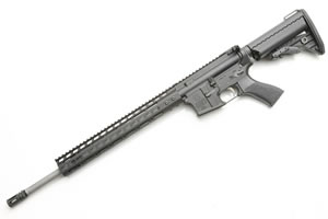 Noveske RifleWorks Rogue Hunter Rifle R18RH68, 6.8 SPC, 18 in LW Stainless BBL, w/NSR 13.5 in Rail, Vltor Collap Stock, Flip Up Sights, 30 Rd