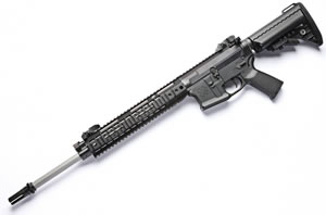 Noveske RifleWorks SPR Rifle R18556SB, 5.56 NATO, 18 in Stainless BBL, w/Switchblock, 11 in LoPro Rail, Vltor Collap Stock, Flip Up Sights, 30 Rd
