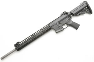 Noveske RifleWorks Medium Varmint Rifle R20556, 5.56 NATO, 20 in Stainless BBL, LoPro 14 in Rail, Vltor Collap Stock, Flip Up Sights, 30 Rd