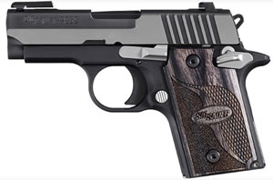 Sig Sauer Model P938 Equinox Pistol 9389EQAMBI, 9 mm, 3 in, Blackwood Grip, 2 Tone Finish, 6 + 1 Rd