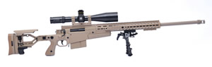 Accuracy International PSR-AX Multi Caliber Sniper Rifle Package PSRAX, .338 Lapua Mag/.300 Win Mag/.308 Win Mag, Bolt-Action, 25 and 24 inch barrel, Dark Earth Finish