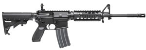 Sig Sauer Model M400 SWAT Rifle RM40016BS, 223 Remington, 16 in, Semi Auto, 6 Pnt Collapsible Stock, Blk Finish, 30 + 1 Rds