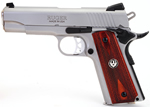 Ruger SR1911-CMD Pistol 6702, 45 ACP, 4.25 in, Rosewood Grip...