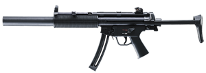 Walther H&K MP5 SD Rifle  5780311, 22 LR, 16.2 in, Adj Telestock, Black Finish, 20+1 Rd