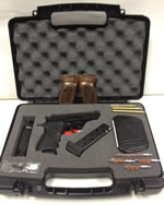 Bersa Thunder 380 Limited Edition Pistol Kit T380WGKIT, 380 ACP, 3.5 in, Walnut Grip, Matte Black Finish, 7 + 1 Rd, Case, Holster