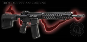 Troy Defense Pre-Ban Carbine SDCKPRBBT0000, 5.56 NATO, 16 in Chrome Moly BBL, Semi-Auto, Troy Adj Stock, Troy Furniture, Black Finish, 30 Rds, ONLY 1 IN STOCK!