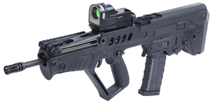 IWI Tavor SAR Bullpup Rifle Package TSIDF16, 5.56 Nato, 16.5 in, Semi-Auto, Gas Piston, Blk Synthetic Stock, Blk Finish, 30 Rds W/Meprolight Scope