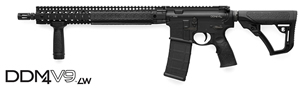 Daniel Defense DDM4 V9 LW Carbine 02-145-16030-047, .223 Rem/5.56 Nato, 16 in Chrome Lined Lightweight BBL, Semi-Auto, DD Adj Stock, Blk Finish, 15 in DD Rail, 30 Rds
