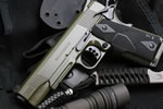 Wilson Combat CQB Tactical LE Pistol CQBTLE-FSR, .45 ACP/9mm/.38 Super/.40 S&W/10mm, 5 in Stainless Match Grd BBL, Diamondwood Grips, Armor-Tuff Finish, 8 Rds