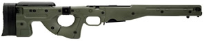 Accuracy International AICS Chassis System AICS2-338 for Left-Handed Remington 700, .338 Lapua Chassis, Folding Stock, Adj Cheek Piece, 5Rd