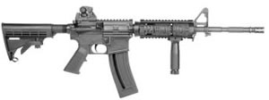 ATI Omni Poly M4 Carbine ATIGOMNI22OPS, 22 LR, 16 in BBL,Adj Stock, Black Finish, Quad Rail, 28 Rds