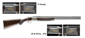 Browning Citori Grade VII Lighting Shotgun 013308605, 20 GA, Over/Under, 26 in BBL, 3 in Chmbr, Gloss Walnut Stock, Grey Rcvr, 2  Rd
