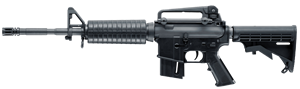 Walther Colt M4 Carbine Rifle 5760300, 22 LR, 16.2 in, Semi-Auto, Adj Stock, Black Finish, 30+1 Rd