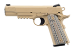 Colt Marine 1911 Marine Pistol O1070M45, 45 ACP, 5 in, Semi-Auto, Checkered Grip, Tan IonBond Finish, Night Sights