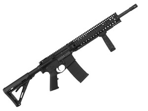 Daniel Defense Model DDM4 V5 Slick Top Mid Length Rifle DA-08047-NS, 223 Rem | 5.56 NATO, 16 in, Mt Black, Magpul MOE, 30+1 Rd,Quad Rail, New Version w/Rail, Flash Supp