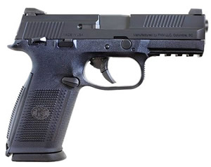 FN Herstal Model FNS-40 Pistol  66940, 40 S&W, 4 in BBL, Double Action, Poly Grip, Black Finish, 3-Dot Sights, Manual Safety, 14+1 Rd