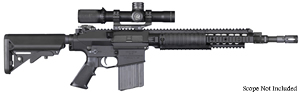 "Knights Armament SR-25 EC Enhanced Carbine Rifle 30365, 7.62 Nato, 16"" Match Grade Alloy Steel BBL, URX 2 Rail, 2-Stg Trigger, Iron Sights, Adj Sopmod Stock, Black, 30 Rd"