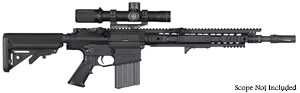 "Knights Armament SR-25 ECC Enhanced Combat Carbine Rifle 30313, 7.62 Nato, 16"" Cut Rifled Chrome-Lined BBL, URX 3.1 13.5"" Rail , 2-Stg Trigger, Iron Sights, Adj Sopmod Stock, Black, 30 Rd"