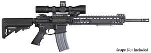 "Knights Armament  SR-15E3 IWS LPR Light Precision Rifle 30280, 5.56 Nato, 18"" Stainless Steel BBL, URX 3.1 13.5"" Rail, 2-StgTrigger, Iron Sights, Adj Sopmod Stock, Black, 30 Rd"
