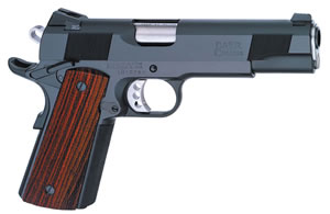 Les Baer 1911 Custom Carry Pistol LBCCS438, .38 Super, 4.25 in Commanche Length BBL, Prem Chk Cocobolo Grips, Steel Finish, 8 Rds