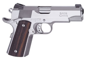 Les Baer 1911 Stinger Pistol LBSS45, .45 ACP, 4.25 in BBL, Prem Chk Cocobolo Grips, Stainless Finish, 7 Rds