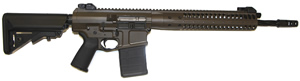 LWRC REPR Gas Piston Rifle REPRR7PBCF16, 7.62 Nato/.308 Win, 16.1 in Spiral Fluted BBL, B5 SOPMOD Stock,Folding Sights, Geissele Trigger, 2-Pos Gas Block, Patriot Brown Fin, 20 Rd, 1-2 Weeks Delivery