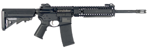 LWRC M6A2 DEA Special Teams Gas Piston Rifle M6A2R5B14PH, 5.56 NATO, 14.7 in BBL, SOPMOD Stock, LWRC Folding BUIS Sights, Blk, 30 Rd
