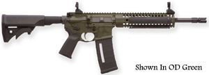 LWRC SIX8 A2 Gas Piston Carbine SIX8RCK14P, 6.8 SPC, 14.7 in BBL, LWRCI Stock, Skirmish Folding Sights, 9 in Quad Rail, FDE Finish, 30 Rds
