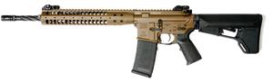 LWRC M6A2 SPR Gas Piston Rifle M6A2R5B14SPR, 5.56 NATO, 14.7 in Spiral Fluted BBL, Magpul ACS Stock, LWRC Folding BUIS Sights, Blk, 30 Rd