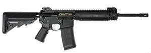 LWRC M6A2-S Special Teams Gas Piston Rifle M6A2R5B16STR, 5.56 NATO, 16.1 in BBL, Mid-Length Gas System, SOPMOD Stock, LWRC Folding BUIS Sights, Blk, 30 Rd