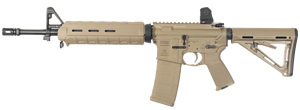 LWRC M6-SL Stretch Lightweight Special Teams Gas Piston Rifle M6R5CK14SL, 5.56 Nato, 14.1 in BBL, Magpul MOE Stock, A 1.5 Fixed Rear, A-Frame Front, FDE, 30 Rd