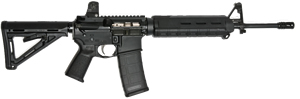 LWRC M6-SL Stretch Lightweight Special Teams Gas Piston Rifle M6R5B14SL, 5.56 Nato, 14.1 in BBL, Magpul MOE Stock, A 1.5 Fixed Rear, A-Frame Front, Blk, 30 Rd