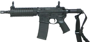 LWRC PSD-P Gas Piston Pistol PSDPR5B8, 5.56 Nato, 8 in BBl, MIAD Grip, LWRC Folding BUIS Sights, BLK, 30 Rd
