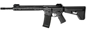 LWRC M6A2 SPR Gas Piston Rifle M6A2R5B16SPR, 5.56 NATO, 16.1 in Spiral Fluted BBL, LWRC Stock, LWRC Folding BUIS Sights, Black Finish, 30 Rd