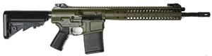LWRC REPR Gas Piston Rifle REPRR7ODG16, 7.62 Nato/.308 Win, 16.1 in BBL,B5 SOPMOD Stock, Folding BUIS Sights, Geissele Trigger, 2-Pos Gas Block, OD Green Finish, 20 Rd, 1-2 Weeks Delivery