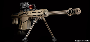 Barrett Model M107A1 Rifle System 13314, .50 BMG, Semi-Auto, 20 in Chrome-Lined BBL, Supp Rdy Muzzle Break, Dark Earth Finish, 10 Rd