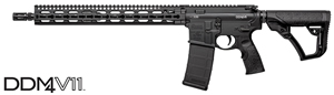 "Daniel Defense DDM4 V11 Mid-Length Carbine 02-151-20026-047, 223 Rem/5.56 Nato, 16"" BBL, Semi-Auto, 15"" KeyMod Slim Rail, DD Adj Stock, Black Anodized Finish, 30 Rds"